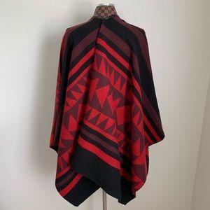 Express Jackets & Coats - Express Southwest Print Poncho Wrap Indian Blanket